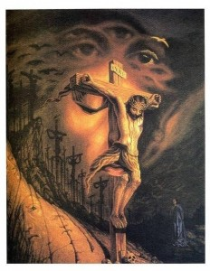 Art-illusion-Jesus-Face-and-Jesus-on-a-cross